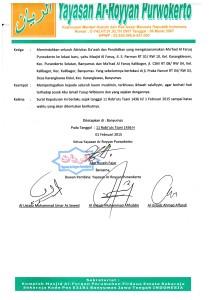 Lembar 2 Surat Berlepas Diri Yayasan Ar-Royyan Purwokerto dari Majelis Ta'lim As-Sunnah Karang Lewas Plus Tandatangan Asatidzah